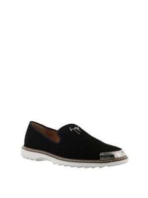 GIUSEPPE ZANOTTI: Mocassini e slippers online - Mocassino Cedric nero in camoscio