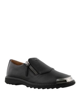 GIUSEPPE ZANOTTI: Mocassini e slippers online - Mocassini Cooper in pelle nera