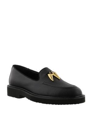 GIUSEPPE ZANOTTI: Mocassini e slippers online - Mocassini neri Fred in pelle