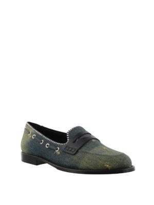 GIUSEPPE ZANOTTI: Mocassini e slippers online - Mocassini Mannie in denim e pelle