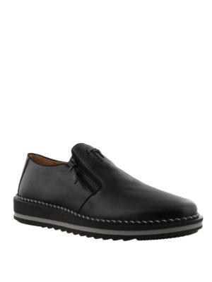 GIUSEPPE ZANOTTI: Mocassini e slippers online - Mocassini Ron in pelle con suola da sneaker