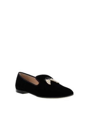 GIUSEPPE ZANOTTI: Mocassini e slippers online - Slipper Shark con charm cristalli