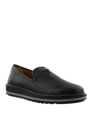 GIUSEPPE ZANOTTI: Mocassini e slippers online - Mocassini Tim in pelle con suola da sneaker