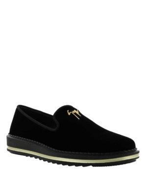 GIUSEPPE ZANOTTI: Mocassini e slippers online - Mocassini Tim in velluto con suola da sneaker