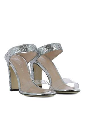 GIUSEPPE ZANOTTI: sandali online - Sandali Alizée in glitter argento
