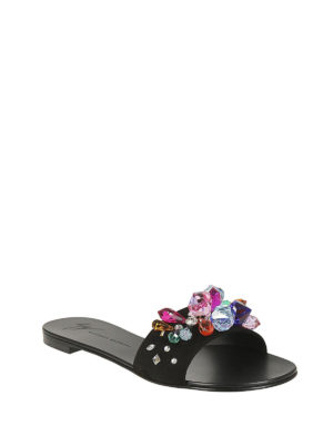 GIUSEPPE ZANOTTI: sandali online - Sandali piatti Blinda con cristalli