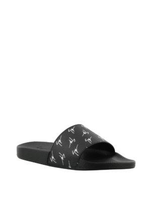 GIUSEPPE ZANOTTI: sandali online - Sandali Brett Signature neri