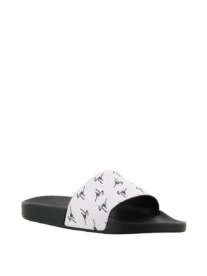 GIUSEPPE ZANOTTI: sandali online - Sandali Brett Signature bianchi