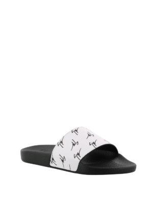 GIUSEPPE ZANOTTI: sandali online - Sandali Brett bianchi in tessuto