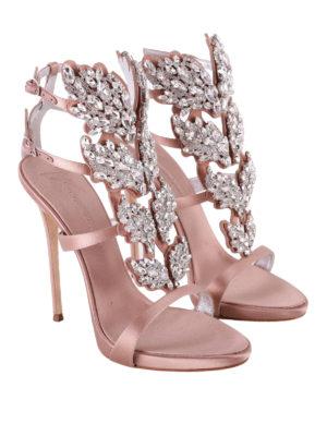 GIUSEPPE ZANOTTI: sandali online - Sandali in raso Cruel Sparkle