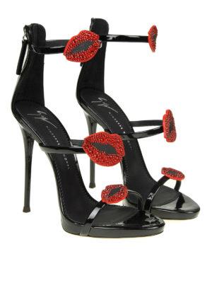 GIUSEPPE ZANOTTI: sandali online - Sandali gioiello Harmony in vernice