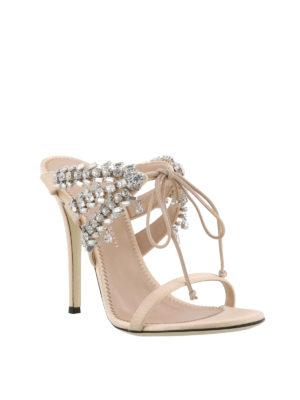 GIUSEPPE ZANOTTI: sandali online - Sandali Madelyn rosa con strass