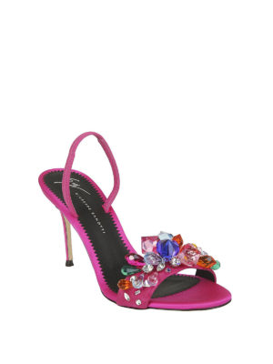 GIUSEPPE ZANOTTI: sandali online - Sandali Blinda cristalli colorati