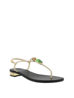 GIUSEPPE ZANOTTI: sandali online - Sandali infradito con strass ananas