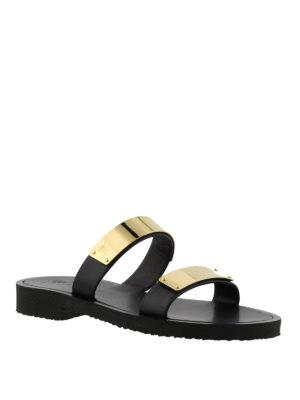 GIUSEPPE ZANOTTI: sandali online - Sandali Zak in pelle nera