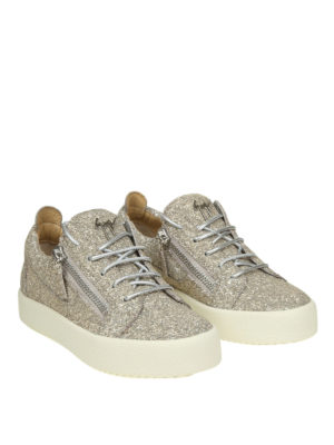 GIUSEPPE ZANOTTI: sneakers online - Sneaker Cheryl in glitter color champagne