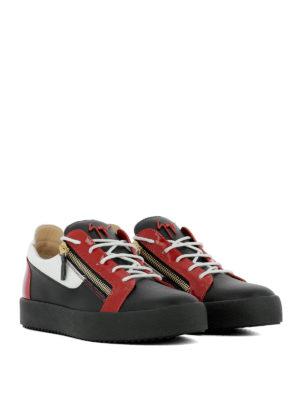 GIUSEPPE ZANOTTI: sneakers online - Sneaker Frankie nere bianche e rosse