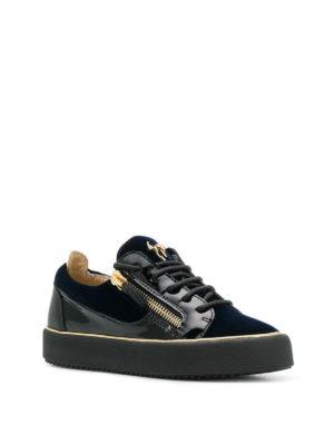 GIUSEPPE ZANOTTI: sneakers online - Sneaker Glynn in velluto e vernice