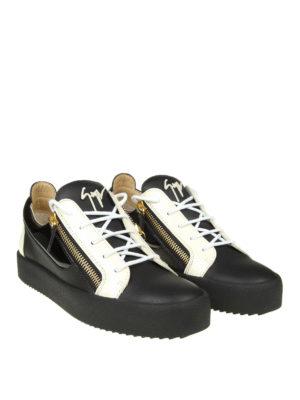 GIUSEPPE ZANOTTI: sneakers online - Sneaker May in pelle nero e bianco