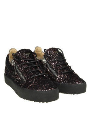 GIUSEPPE ZANOTTI: sneakers online - Sneaker May in velluto e glitter