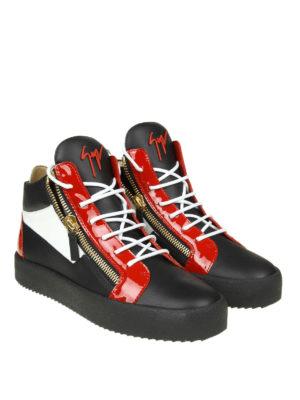 GIUSEPPE ZANOTTI: sneakers online - Sneaker alte May a blocchi di colore