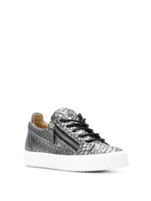 GIUSEPPE ZANOTTI: sneakers online - Sneaker May London grigie stampa rettile