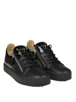 GIUSEPPE ZANOTTI: sneakers online - Sneaker nere May London in pelle e vernice