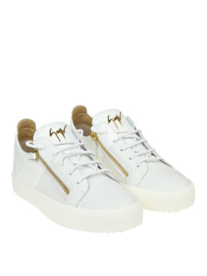 GIUSEPPE ZANOTTI: sneakers online - Sneaker bianche May London in pelle e vernice