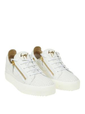 GIUSEPPE ZANOTTI: sneakers online - Sneaker bianche May London effetto pitonato