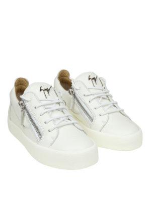 GIUSEPPE ZANOTTI: sneakers online - Sneaker May bianche in pelle