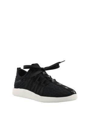 GIUSEPPE ZANOTTI: sneakers online - Sneaker nere con nastro logo