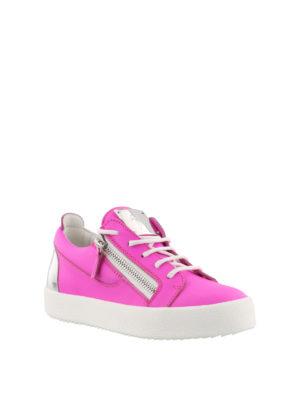GIUSEPPE ZANOTTI: sneakers online - Sneaker stringate fucsia in pelle