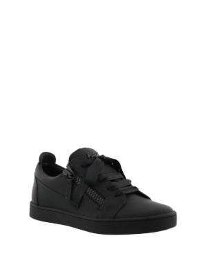 GIUSEPPE ZANOTTI: sneakers online - Sneaker nere Unfinished in pelle