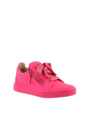 GIUSEPPE ZANOTTI: sneakers online - Sneaker fucsia Unfinished in pelle