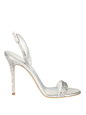 Giuseppe Zanotti: sandals - Adalie crystals leather sandals