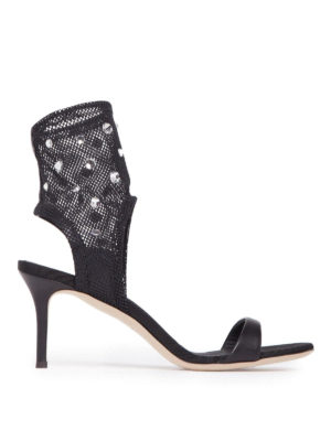 Giuseppe Zanotti: sandals - Agnes napa and net sandals