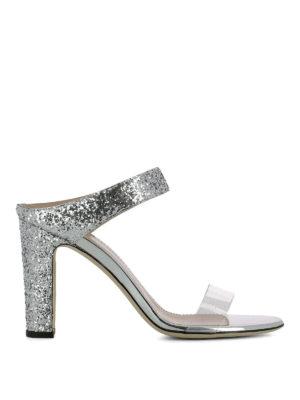 GIUSEPPE ZANOTTI: sandali - Sandali Alizée in glitter argento