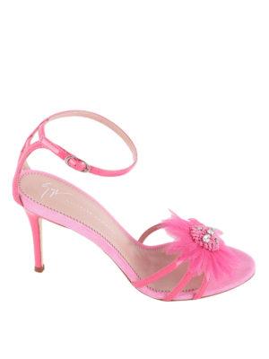 Giuseppe Zanotti: sandals - Annemarie sandals with flower