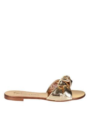 Giuseppe Zanotti: sandals - Barbra laminated leather sandals