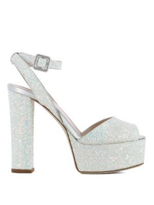Giuseppe Zanotti: sandals - Betty fabric and glitter sandals