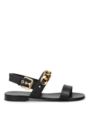 Giuseppe Zanotti: sandals - Birel chain detail leather sandals