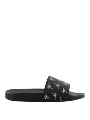 GIUSEPPE ZANOTTI: sandali - Sandali Brett Signature neri