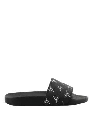 GIUSEPPE ZANOTTI: sandali - Sandali Brett in tessuto firmato
