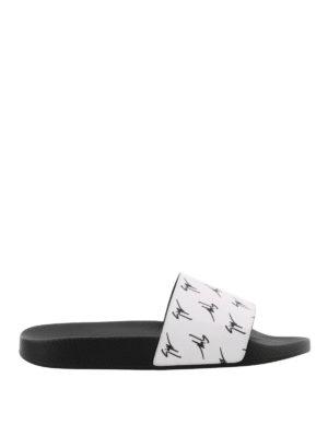 GIUSEPPE ZANOTTI: sandali - Sandali Brett Signature bianchi