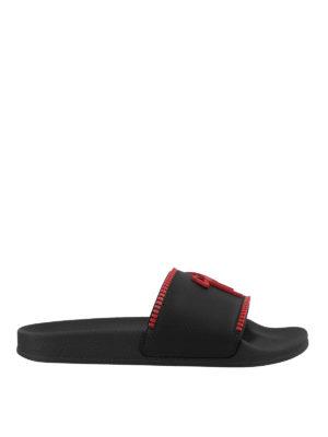 a884479fa83c GIUSEPPE ZANOTTI  sandali - Ciabattine Brett Zip nere e rosse