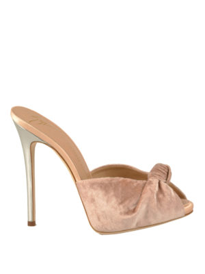 Giuseppe Zanotti: sandals - Bridget velvet slide sandals