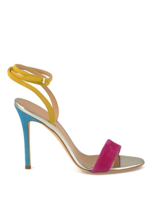 Giuseppe Zanotti: sandals - Colour block suede sandals