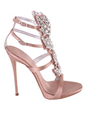 GIUSEPPE ZANOTTI: sandali - Sandali in raso Cruel Sparkle