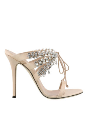 GIUSEPPE ZANOTTI: sandali - Sandali Madelyn rosa con strass