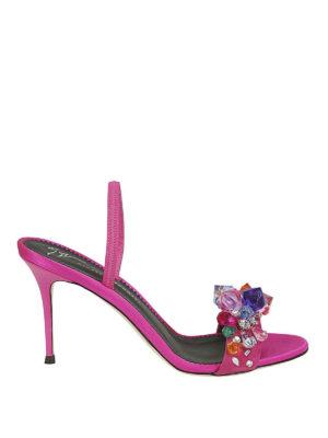 GIUSEPPE ZANOTTI: sandali - Sandali Blinda cristalli colorati